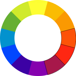 colorwheel with red-orange, red, and red-purple outlined